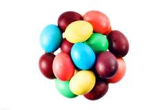 色的复活节彩蛋 库存图片