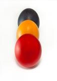 色的复活节彩蛋希腊三 库存图片