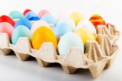 色的复活节彩蛋 库存照片