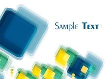 色的多倾斜地正方形 免版税库存照片