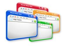 色的多技术万维网网站 免版税库存照片