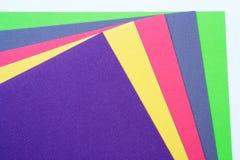 色的多纸部分 免版税库存照片