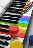 色的多钢琴 免版税库存照片