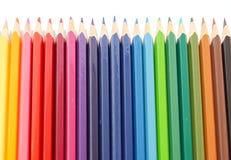 色的多铅笔 免版税库存照片