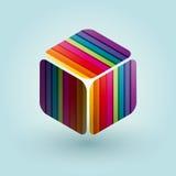 色的多维数据集 免版税库存图片