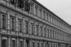 色的大厦储 免版税库存图片