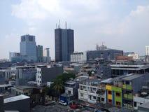 色的大厦在雅加达 免版税库存图片
