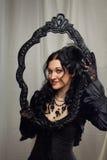 黑色的夫人 图库摄影