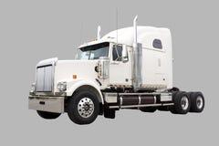 色的奶油色运输卡车 免版税库存图片