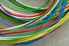 色的导线网络 免版税图库摄影