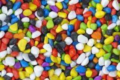 色的小卵石 库存图片