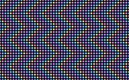 色的小点波浪系列  免版税库存照片