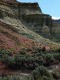 色的峭壁在春天 库存图片