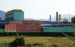 色的工厂 免版税库存照片