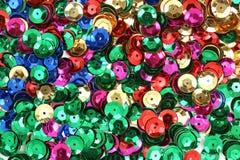 色的工艺另外衣服饰物之小金属片使&# 库存图片