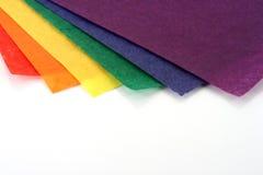 色的工艺纸张彩虹 免版税图库摄影