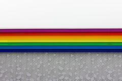 色的彩虹条纹 库存图片