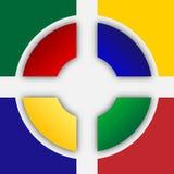 色的徽标正方形 免版税库存图片
