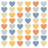 色的心脏背景 免版税图库摄影