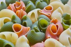色的意大利面食壳 库存照片
