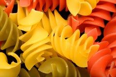 色的意大利面食 免版税图库摄影