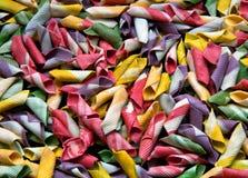 色的意大利pasta_01 免版税库存图片