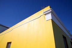 色的房子在开普敦 免版税库存图片
