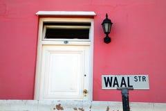 色的房子在开普敦 免版税库存照片