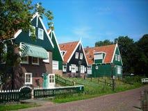 色的房子在荷兰 图库摄影