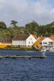 色的房子在Mandal 免版税库存图片