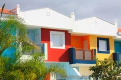 色的房子tenerife 库存照片