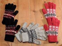色的手套 免版税图库摄影