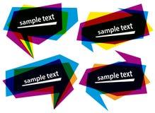 色的抽象横幅泡影塑造向量 免版税库存照片