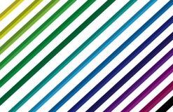 色的抽象线 免版税库存图片