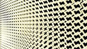 色的抽象转动的方形的样式背景-无缝的圈行动图表从绿色正方形 移动几何 库存例证