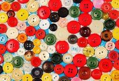色的按钮。 库存照片