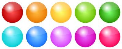 色的按钮 免版税图库摄影