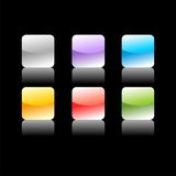 色的按钮 向量例证