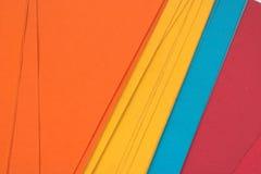 色的文件夹 免版税图库摄影