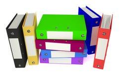 色的文件夹 免版税库存图片