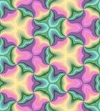 色的无缝的柔和的淡色彩卷曲样式 抽象背景五颜六色几何 适用于纺织品,织品和包装 免版税库存图片