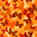 色的无缝的样式蝴蝶 免版税库存照片