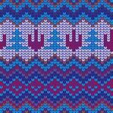 色的无缝的被编织的背景 免版税库存照片