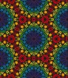 色的无缝的部族样式 图库摄影