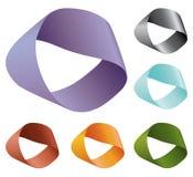 色的无限形状向量经线 免版税库存图片