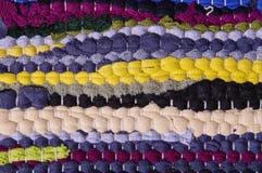 色的旧布地毯  免版税库存图片