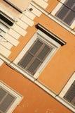 色的明亮的大厦 库存图片