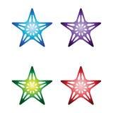 色的星形 库存例证
