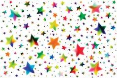 色的星形 库存图片
