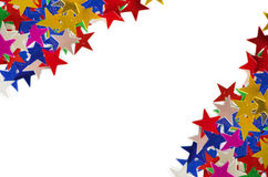 色的星背景 库存图片